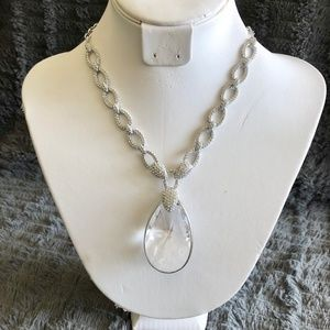 Swarovski Necklace Jewel/Silver O/S